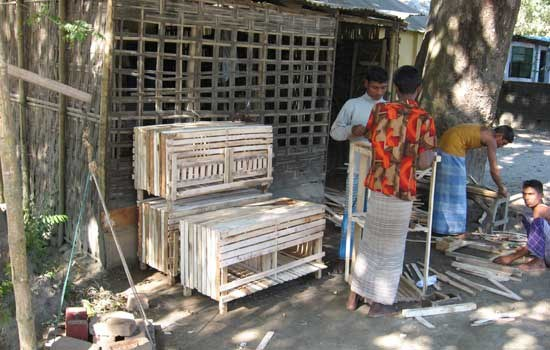 Wooden poultry sheds enhancing the livelihoods of poultry keepers and carpenters